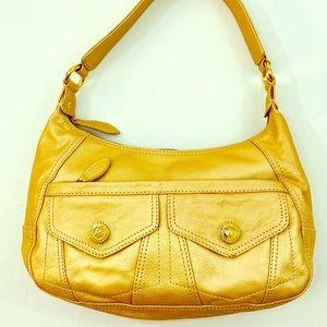 Wilsons Leather ™️ Gold Hobo Shoulder Bag